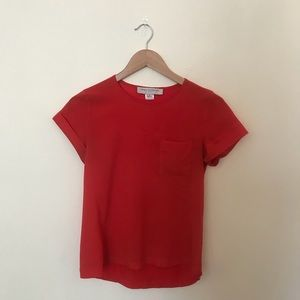 French Connection Polly Plains Pocket Tee